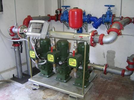 Impianto autoclave condominiale raccordi tubi innocenti for Impianto autoclave schema
